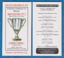 Manchester City European Cup Winners Cup